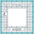Get Squared 6.5-inch Outer, 3.5-inch Inner Ruler