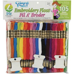 Jumbo-size Value Pack Multicolor 100-percent Cotton Embroidery Floss