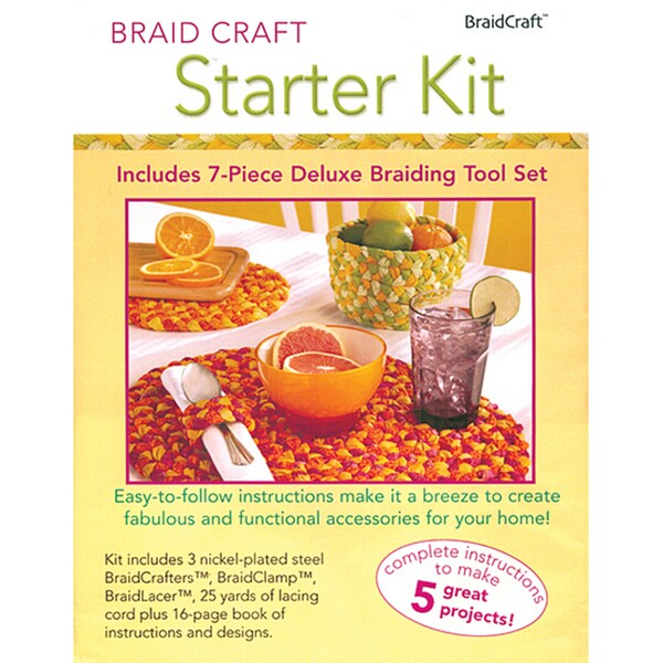 BraidCraft Starter Kit with Seven-piece Deluxe Braiding Tool Set