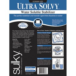 Sulky Ultra Solvy Sewing Water-Soluble Stabilizer