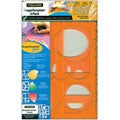 Fiskars Circles, Ovals and Rectangles Template (Pack of 3)