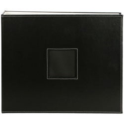 Black Leather 12x12 D-ring Album