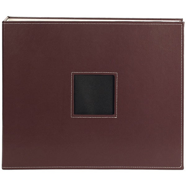 Brown Leather 12x12 D-Ring Album