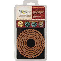 Wizard Nestabilities Scalloped Circle Die Set (Set of 6)