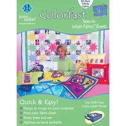 Colorfast Sew-in Inkjet Fabric Sheets