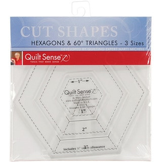 Quilt Sense Hexagons and Triangles Quilter's Ruler