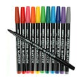 Uchida Primary Colors Brush Marker Set (Pack of 12)
