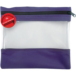 Seeyourstuff Clear Purple Storage Bags