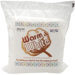 Warm & White Cotton Batting for Sewing and Crafts