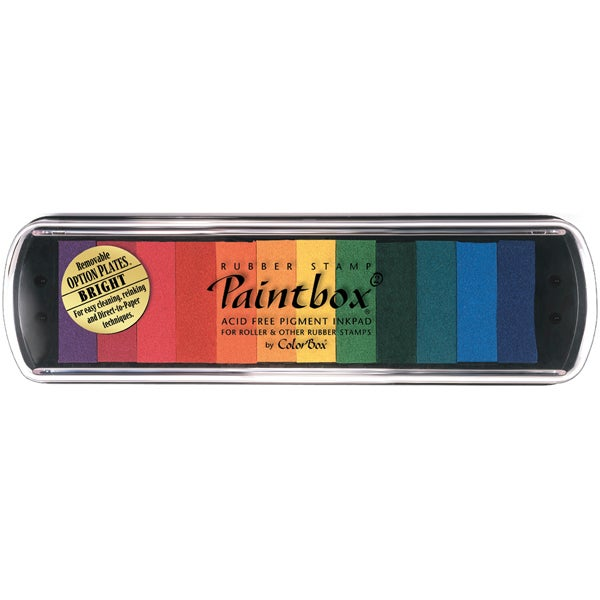 12-Color ColorBox Non-toxic Pigment Stamp Pad for Handicrafts