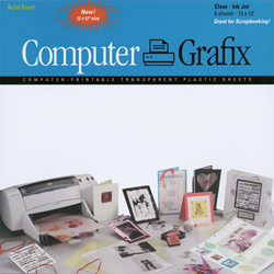 Computer Grafix 12x12 Transparent Film Sheets (Pack of 6)