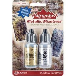 Adirondack Gold/ Silver Metallic Mixative (Pack of 2)