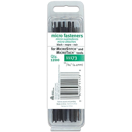 Micro Stitch Fastener Refills 4.4mm Black