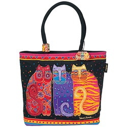 Laurel Burch Feline Friends Shoulder Tote