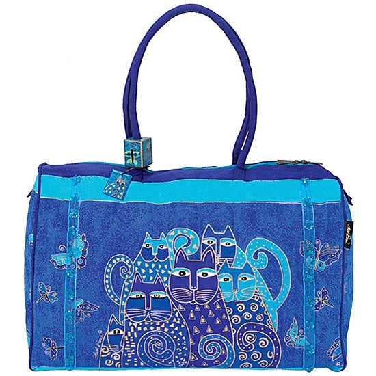 Laurel burch indigo cats arts and crafts travel bag for Arts and crafts tote bags