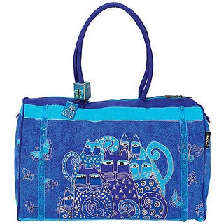 Laurel Burch Indigo Cats Arts and Crafts Travel Bag