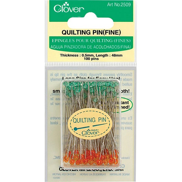 Clover Needlecraft Fine Quilting Pins
