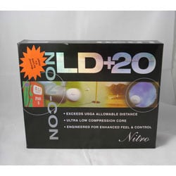 Nitro LD+20 White Golf Balls (Pack of 24)
