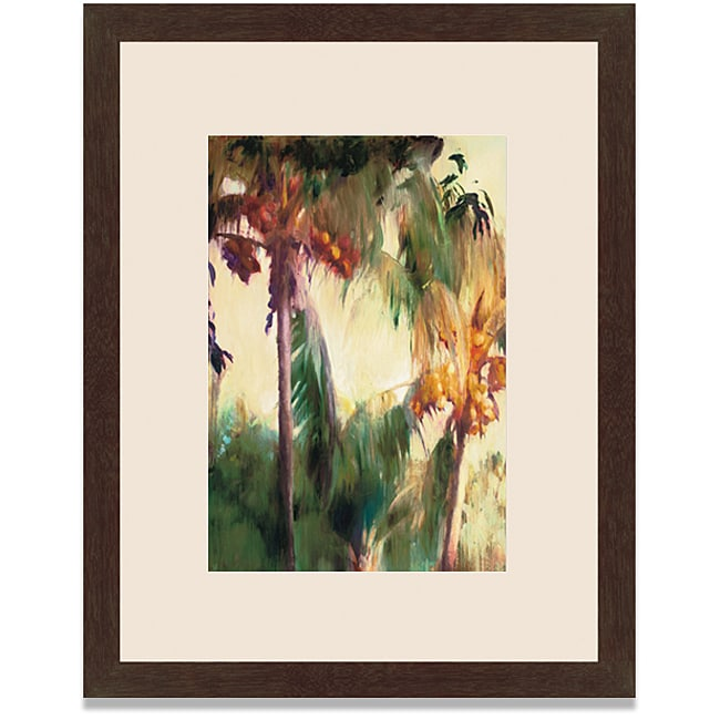 Allyson Krowitz 'Morning Palms' Framed Art Print