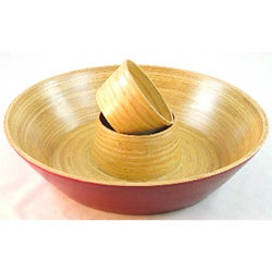 Bamboo Chip and Dip Bowl (Vietnam)