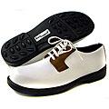 Sandbaggers Women's Danielle White/ Tan Golf Shoes