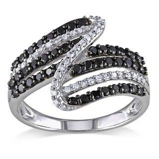 Miadora 14k Gold 1ct TDW Black and White Diamond Ring (G-H, I1-2)