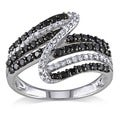Miadora 14k Gold 1ct TDW Black and White Diamond Ring (G-H, I1-2)