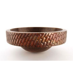 Fontaine Round Copper Skirted Vessel Sink