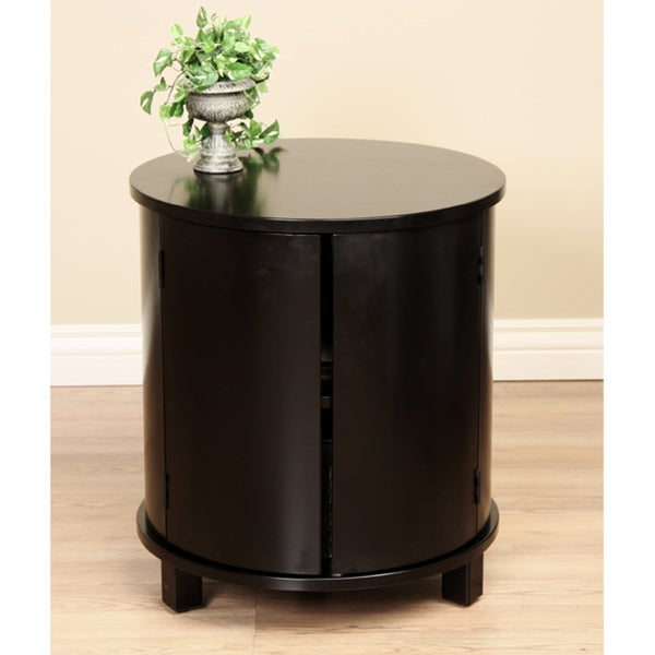 Round Two-door Side Table