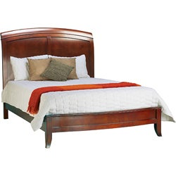 Split Panel King-size Wooden Sleigh Bed