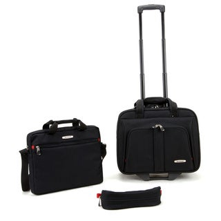 Rockland Black 3-piece Rolling Laptop Case