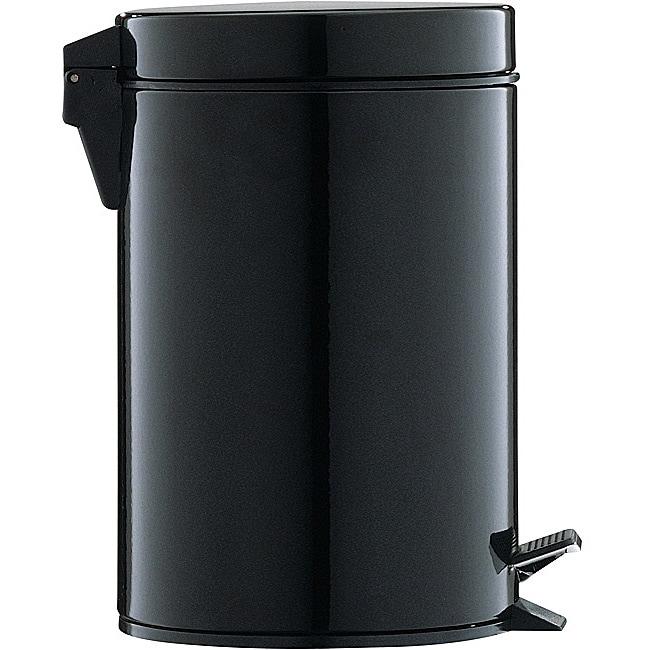 Black 3-quart Step Open Trash Can