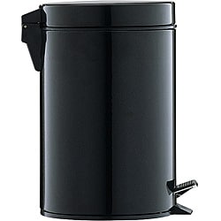 Black 3-quart Step Open Trash Can