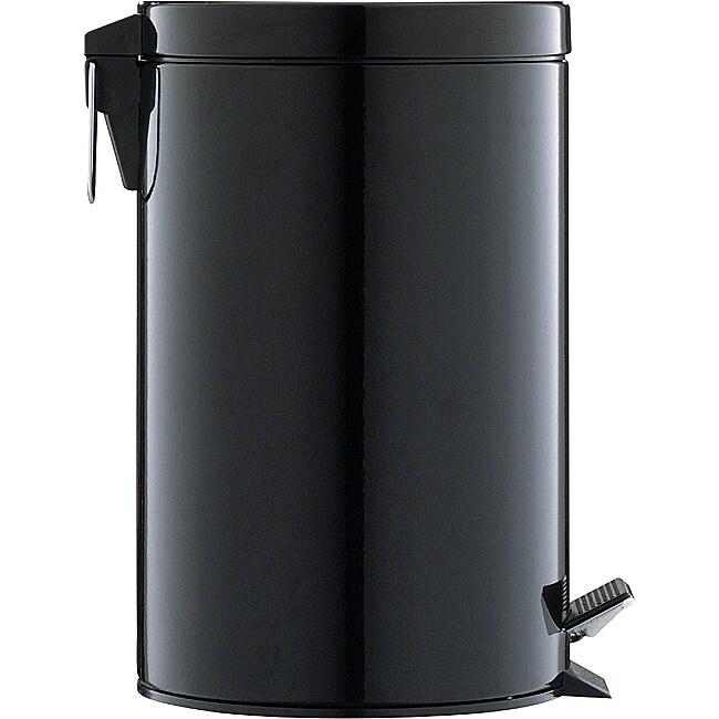 Black 12.5-quart Step Open Trash Can
