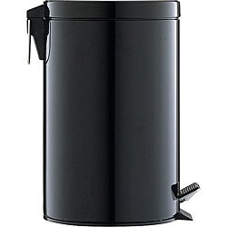 Black 12.5-quart Step Open Trash Can