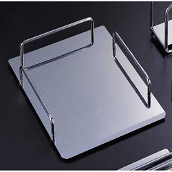 Reflections Chrome-finish Metal Document/Letter Tray Desk Assessory