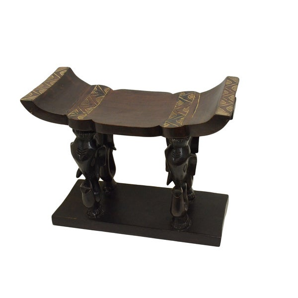 Handcrafted Elephant Head Stool (Ghana)