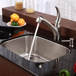 Kraus Satin-Finish Stainless-Steel Single-Lever Pullout Sprayer Kitchen Faucet