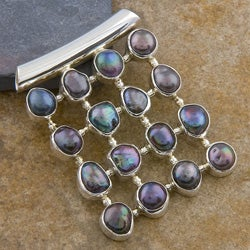Silver Black Tahitian Pearl Pendant (Indonesia)