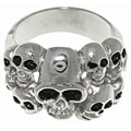 CGC Stainless Steel Ten Skulls Ring