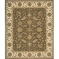 "Nourison Hand-hooked Summit Point Brown Wool Runner Rug (2'3"" x 7'6"")"
