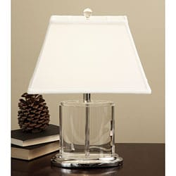 Crystal Oval Table Lamp