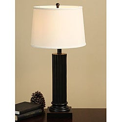 Bronze Column Table Lamp