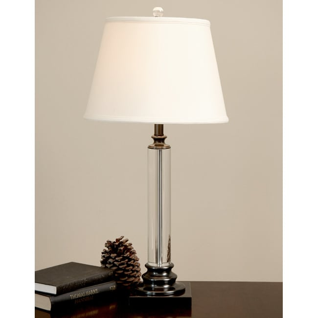Crystal Metal Column Table Lamp