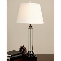 Crystal Metal Column Table Lamp
