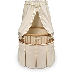 Natural Elite Oval Bassinet with Waffle Bedding