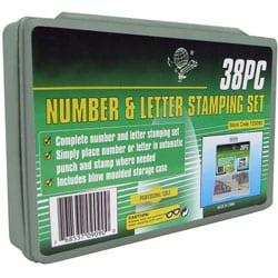 Number and Letter 38-piece Metal Stamping Set