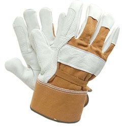 Adi Designs Deerskin Premium Leather Work Gloves with Elastic Back