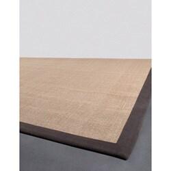 Hand-woven Mandara Brown Sisal Rug (8' x 10')
