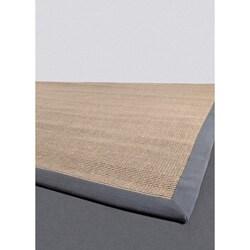 Hand-woven Mandara Grey Sisal Rug (8' x 8')